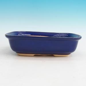 Bonsai ceramic bowl H 08, blue