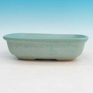 Bonsai ceramic bowl H 08, green