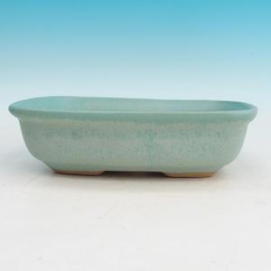 Bonsai ceramic bowl H 08, green