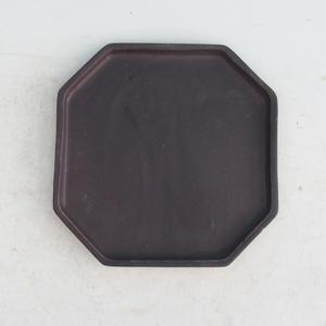 Bonsai tray 14 - 17,5 x 17,5 x 1,5 cm, black - 17.5 x 17.5 x 1.5 cm
