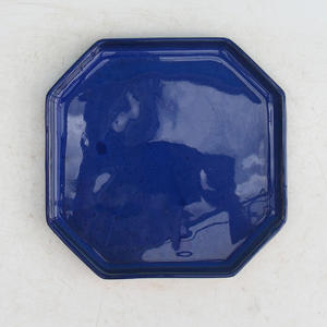 Bonsai tray 14 - 17,5 x 17,5 x 1,5 cm, black matt - 17,5 x 17,5 x 1,5 cm