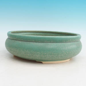 Bonsai ceramic bowl H 21, green