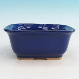 Bonsai ceramic bowl H 36, blue