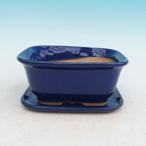Bonsai pot podmiska + H36, blue