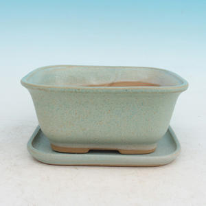 Bonsai pot podmiska + H36, green