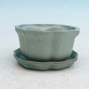 bonsai bowl and tray of water  H95, green
