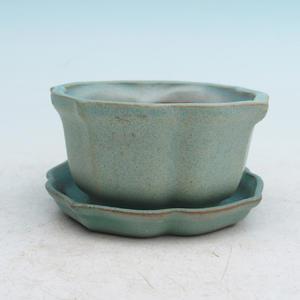 bonsai bowl and tray of water  H95, green