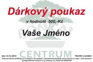 Gift Voucher 500 CZK