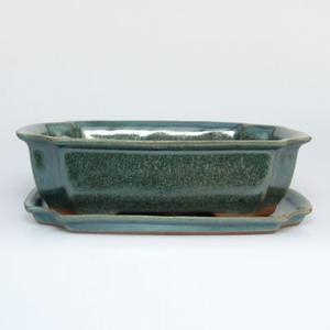Bonsai bowl tray H03 - 16,5 x 11,5 x 5 cm, tray 16,5 x 11,5 x 1 cm