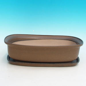 Bonsai bowl tray of water H10 +, brown