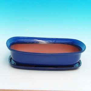 Bonsai pot podmiska + H10, blue