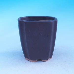 Ceramic bonsai bowl - cascade, black matt