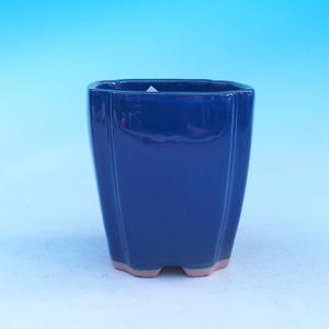 Ceramic bonsai bowl - cascade, blue