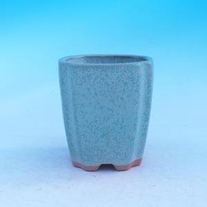 Ceramic bonsai bowl - cascade, green
