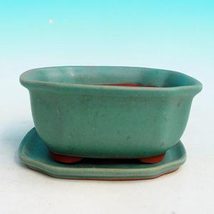 bonsai bowl and tray of water H 32, green