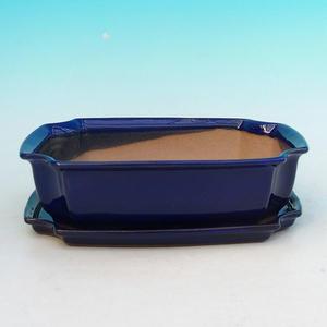 Bonsai bowl tray of water H03 +, blue
