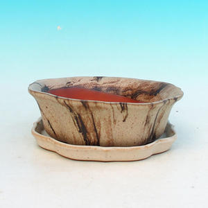 Bonsai bowl tray of water H06, beige