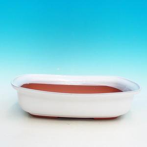 Ceramic bonsai dish H 10, white