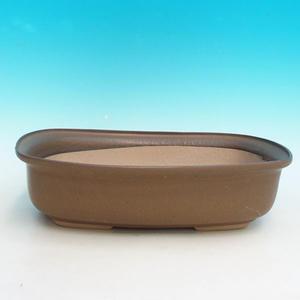 Ceramic bonsai dish H 10, brown