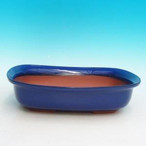 Ceramic bonsai dish H 10, Blue