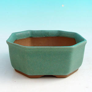 Ceramic bonsai bowl H 13 - 11,5 x 11,5 x 4,5 cm