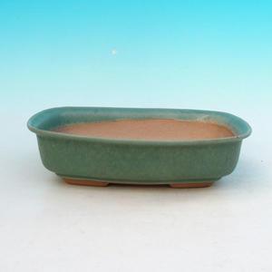Ceramic bonsai bowl H 02, green