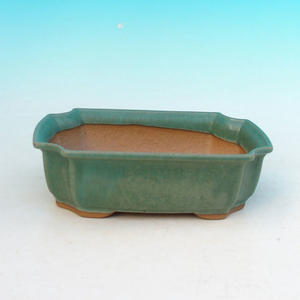 Bonsai ceramic bowl H 03, green