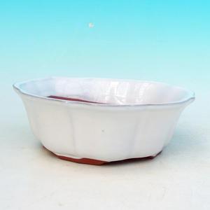 Ceramic bonsai bowl H 06 - 14,5 x 14,5 x 4,5 cm, green - 14.5 x 14.5 x 4.5 cm