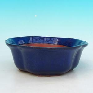 Bonsai ceramic bowl H 06, blue