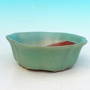 Bonsai ceramic bowl H 06, green