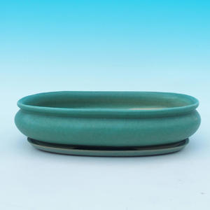 Bonsai pot podmiska + H15, green