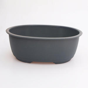 Bonsai plastic bowl MP-4 oval, green