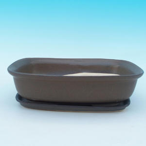 Bonsai bowl tray of water + H 08, brown