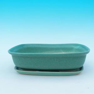 Bonsai bowl tray of water + H 08, green