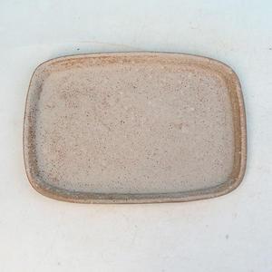 Bonsai water tray H 02 - 17 x 12 x 1 cm, beige - 17 x 12 x 1 cm