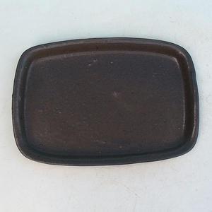 Bonsai water tray H 02 - 17 x 12 x 1 cm, brown - 17 x 12 x 1 cm