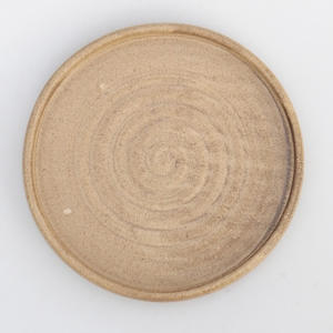 Bonsai tray by hand - 13 x 13 x 1,5 cm, beige- 13 x 13 x 1.5 cm