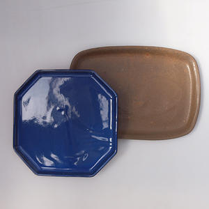 Bonsai tray B-4-paired with bonsai shape, color