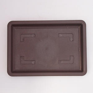Bonsai plastic tray of water PP-2vacl, brown