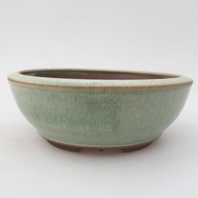 Ceramic bonsai bowl 16 x 16 x 5,5 cm, color green - 1