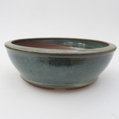 Ceramic bonsai bowl 16 x 16 x 5,5 cm, color green - 1