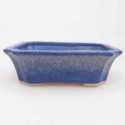 Ceramic bonsai bowl 13 x 10.5 x 4 cm, color blue - 1