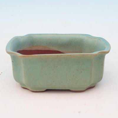 Ceramic bonsai bowl H 01 - 12 x 9 x 5 cm, blue - 12 x 9 x 5 cm - 1