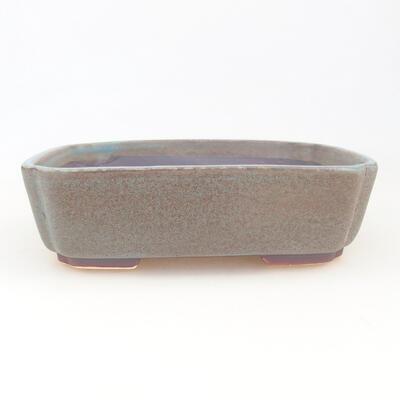 Ceramic bonsai bowl 17.5 x 14.5 x 5 cm, color blue - 1
