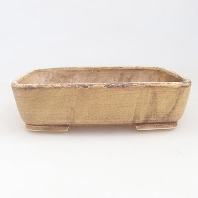 Ceramic bonsai bowl 17 x 14 x 4.5 cm, color yellow - 1