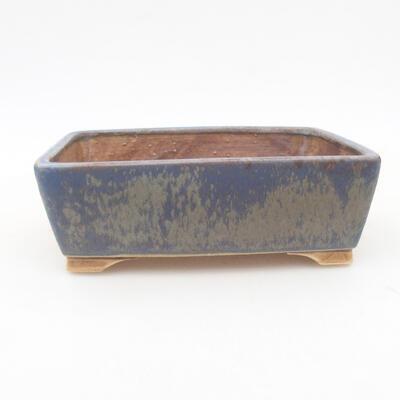 Ceramic bonsai bowl 14.5 x 11.5 x 4.5 cm, color blue - 1
