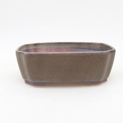 Ceramic bonsai bowl 16.5 x 14 x 5.5 cm, gray color - 1