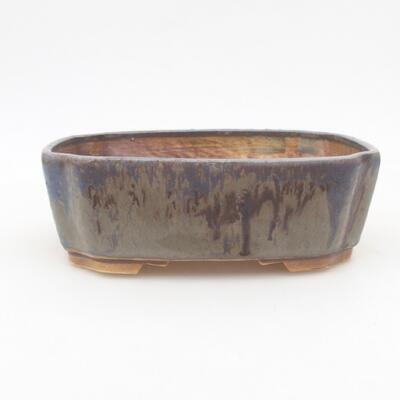 Ceramic bonsai bowl 16.5 x 14 x 5.5 cm, color blue - 1