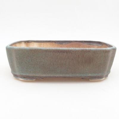 Ceramic bonsai bowl 21 x 17.5 x 5.5 cm, color blue-brown - 1