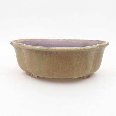 Ceramic bonsai bowl 18 x 16 x 6 cm, color green - 1